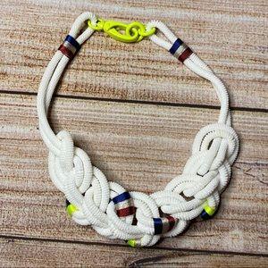 J Crew RARE White Nautical Sailors Knot Necklace